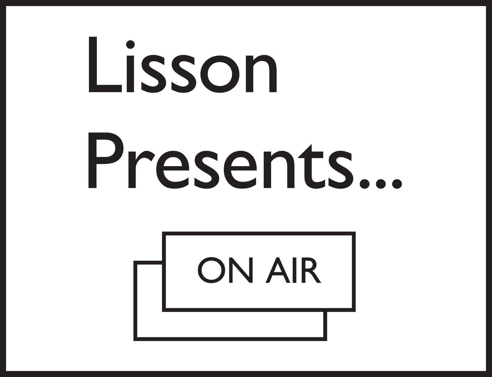 Lisson presents on air newspost 1
