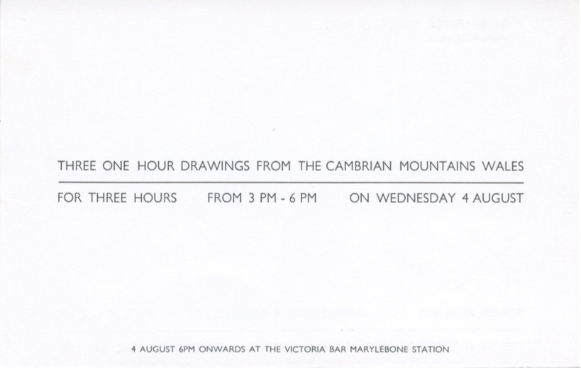 Roger Ackling: Three One-Hour Drawings From the Cambrian Mountains, Wales