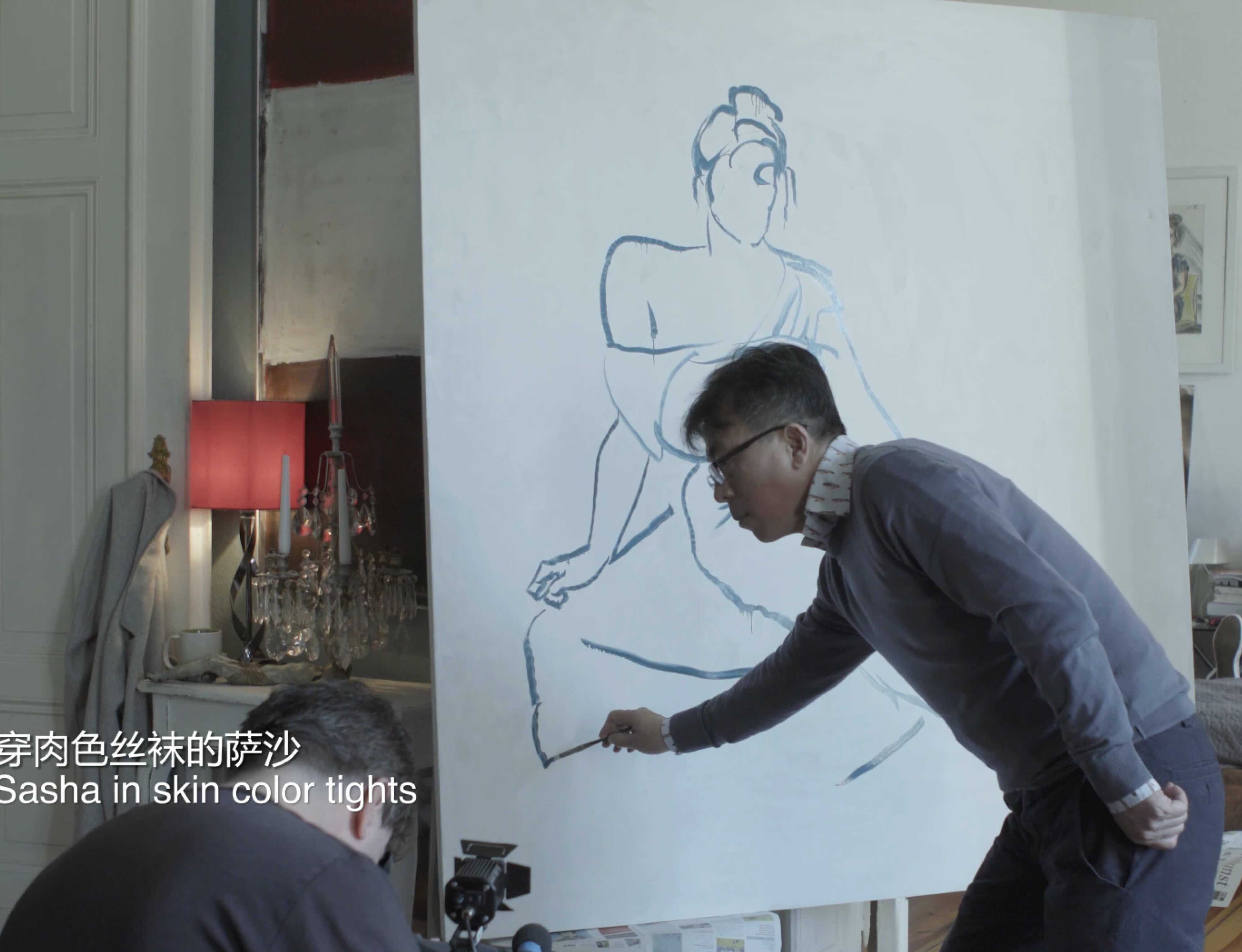 Watch now: The making of Liu Xiaodong's 'Sasha in skin coloured tights'
