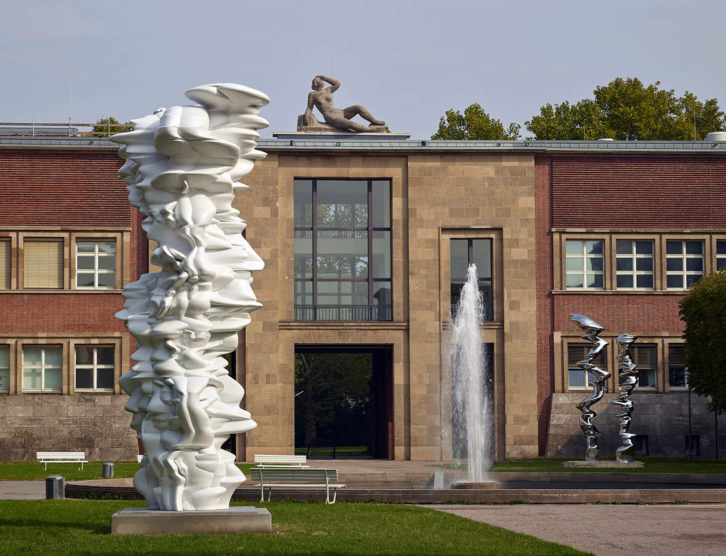 Works by Tony Cragg on view at Museum Kunstpalast in Düsseldorf