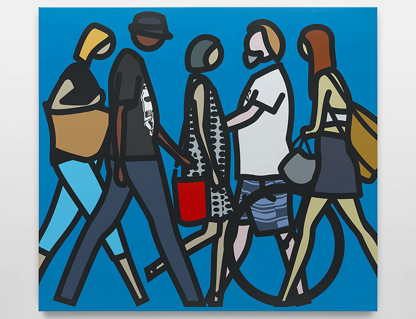 Julian opie. walking in mebourne. 1. vinyl on wooden stretcher. large