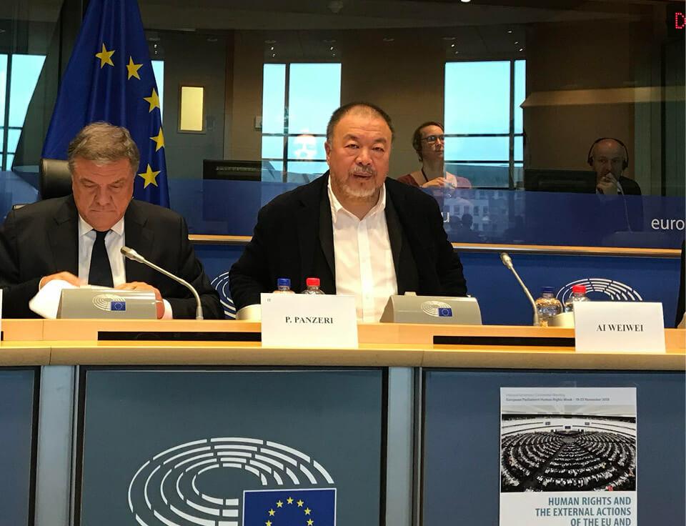 Ai Weiwei delivers keynote EU speech for Human Rights Week