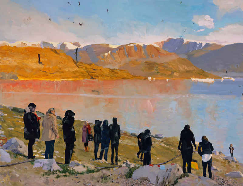 Paintings from Liu Xiaodong's new 'Uummannaq' series on view at the Louisiana Museum