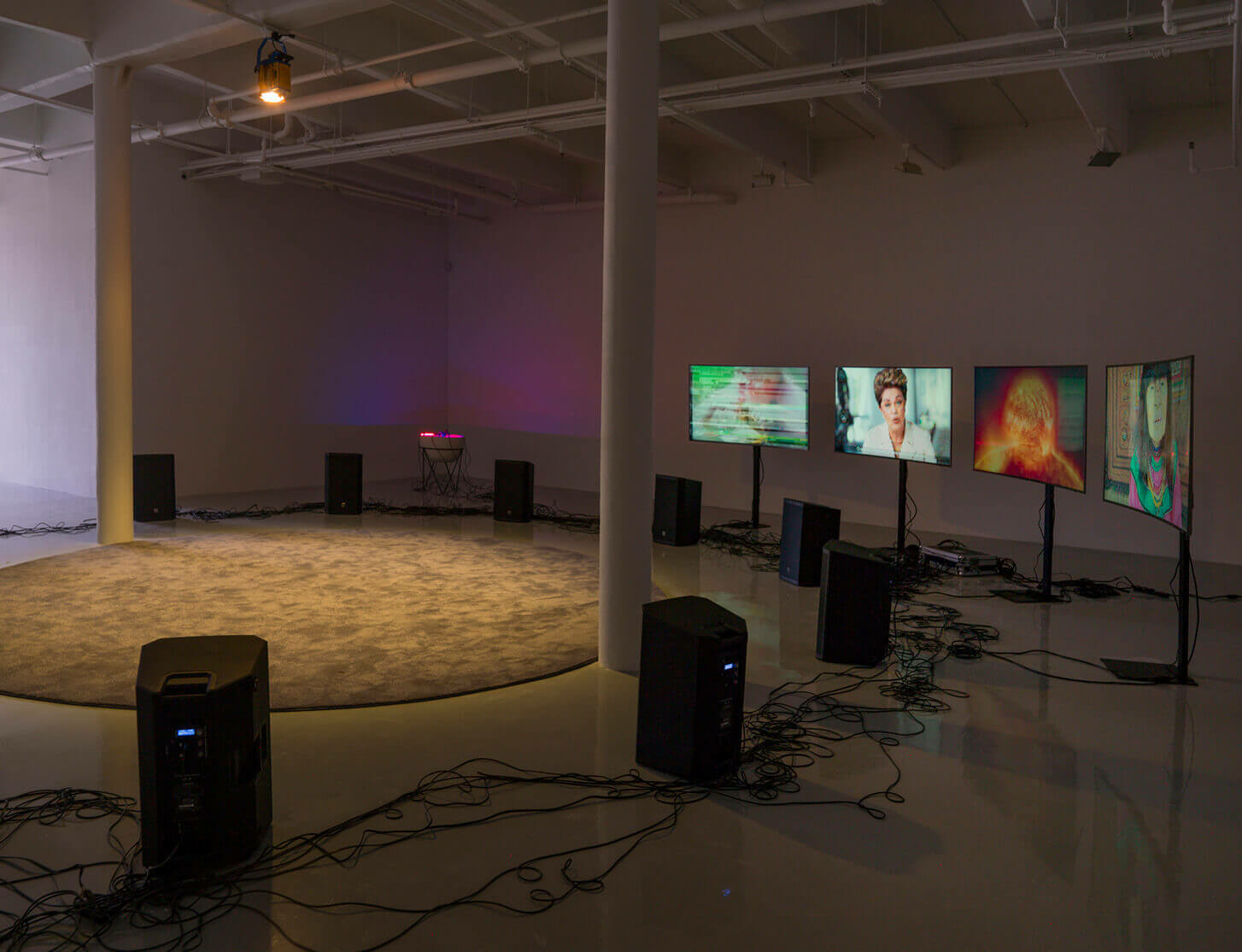 Haroon Mirza's solo exhibition of light and sound installations opens this week at Sifang Art Museum, Nanjing