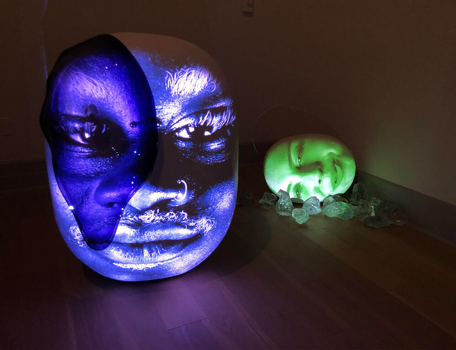 Tony Oursler 'Water Memory' at Guild Hall in East Hampton, NY