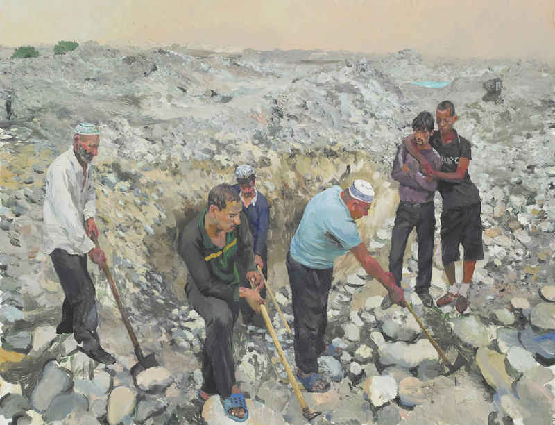 Paintings and photographs by Liu Xiaodong included in exhibition '...et labora' at Fondation Vincent van Gogh Arles