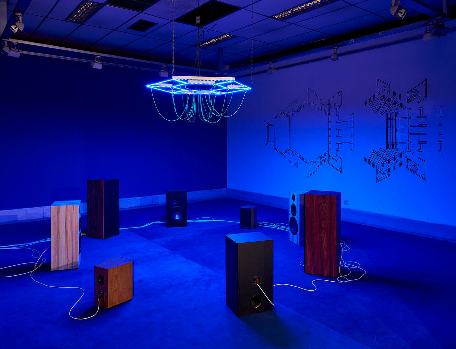New installation by Haroon Mirza at 2020 Dhaka Art Summit