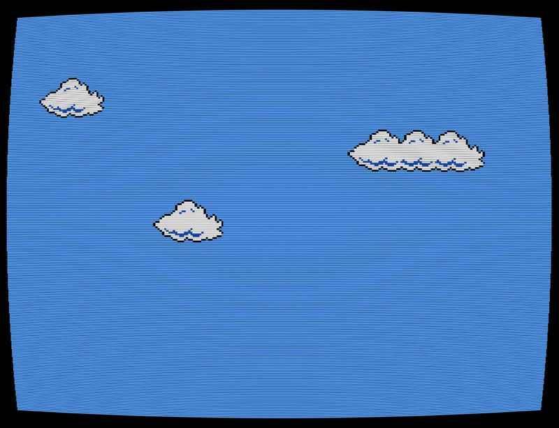 Cory Arcangel's 'Super Mario Clouds' online via Stavanger Art Museum