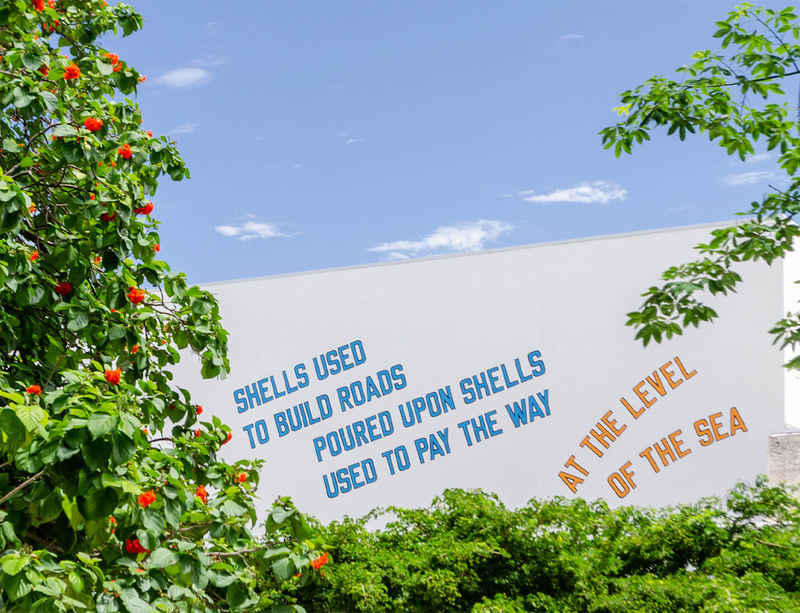 Lawrence Weiner at The Bass in Miami Beach