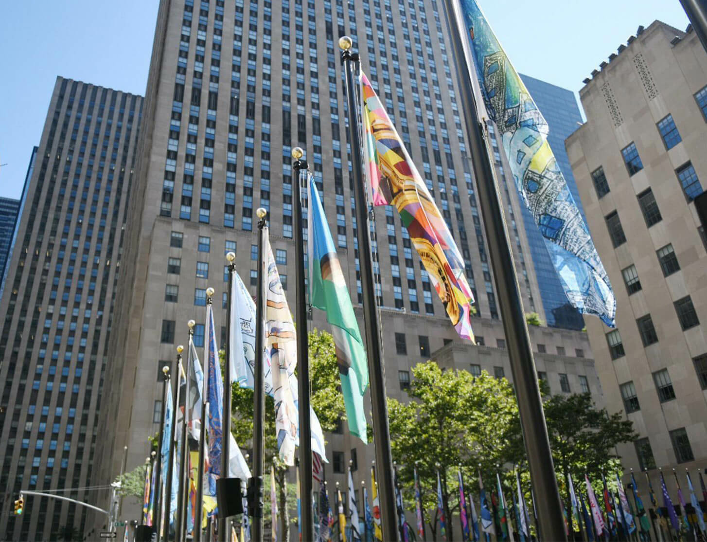 Marina Abramović and Carmen Herrera featured in The Flag Project at Rockefeller Center