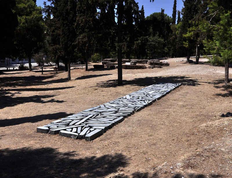 Richard Long: Athens Slate Line at the Acropolis