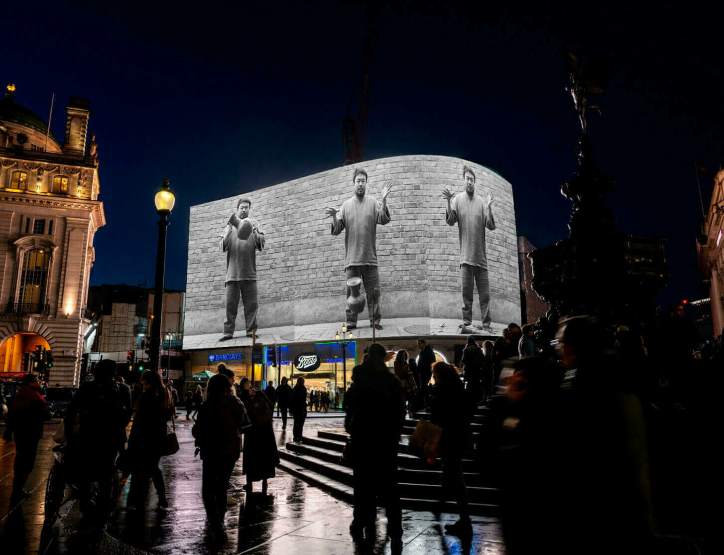 CIRCA public art project launches in Piccadilly Circus with work by Ai Weiwei