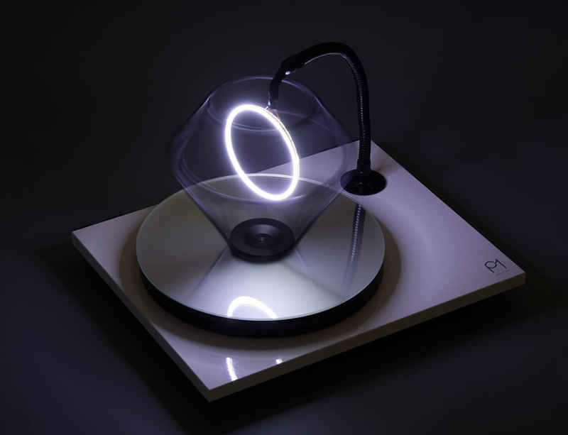 "Haroon Mirza customises Rega Planar 1/1 turntables for Secret 7"" in support of Help Refugees"