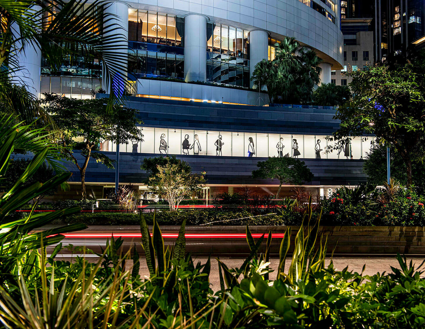 New permanent installations by Julian Opie at Pacific Place Hong Kong