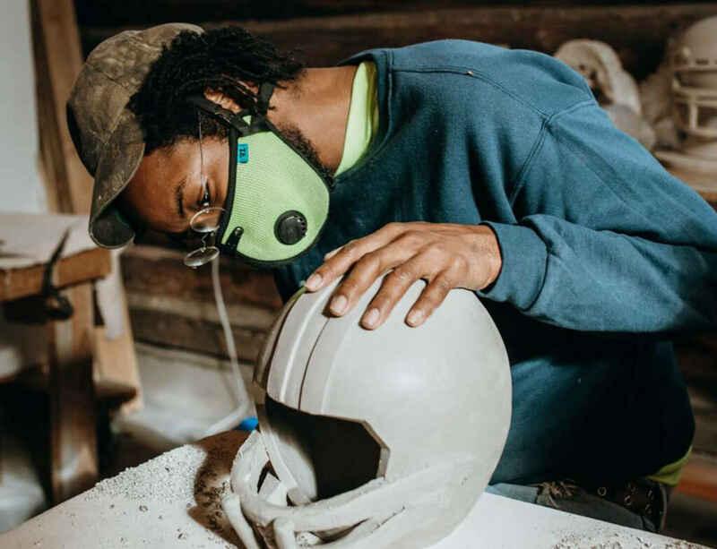 Artist Hugh Hayden makes football-inspired sculptures at Anderson Ranch