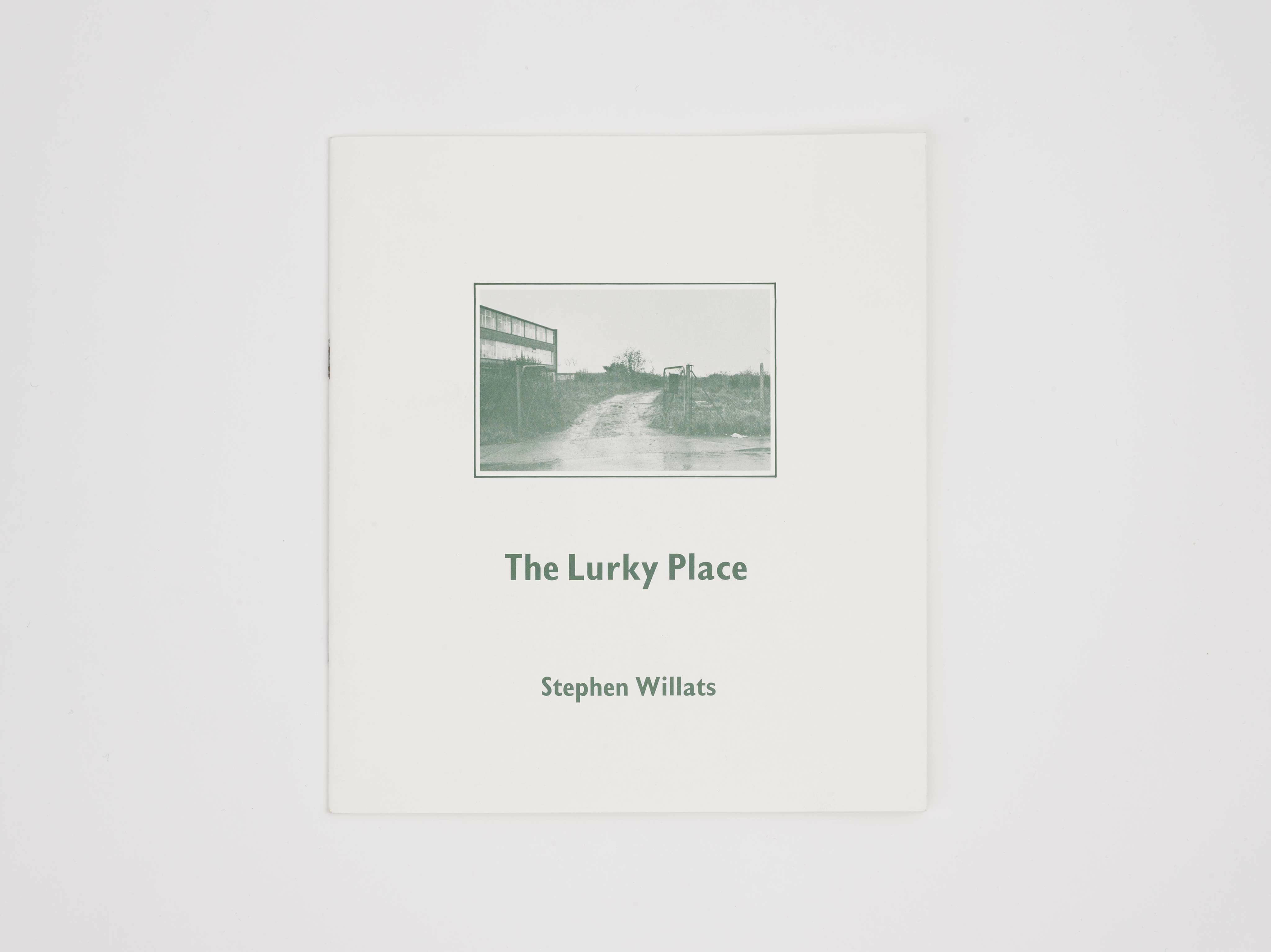 Stephen Willats: The Lurky Place cover