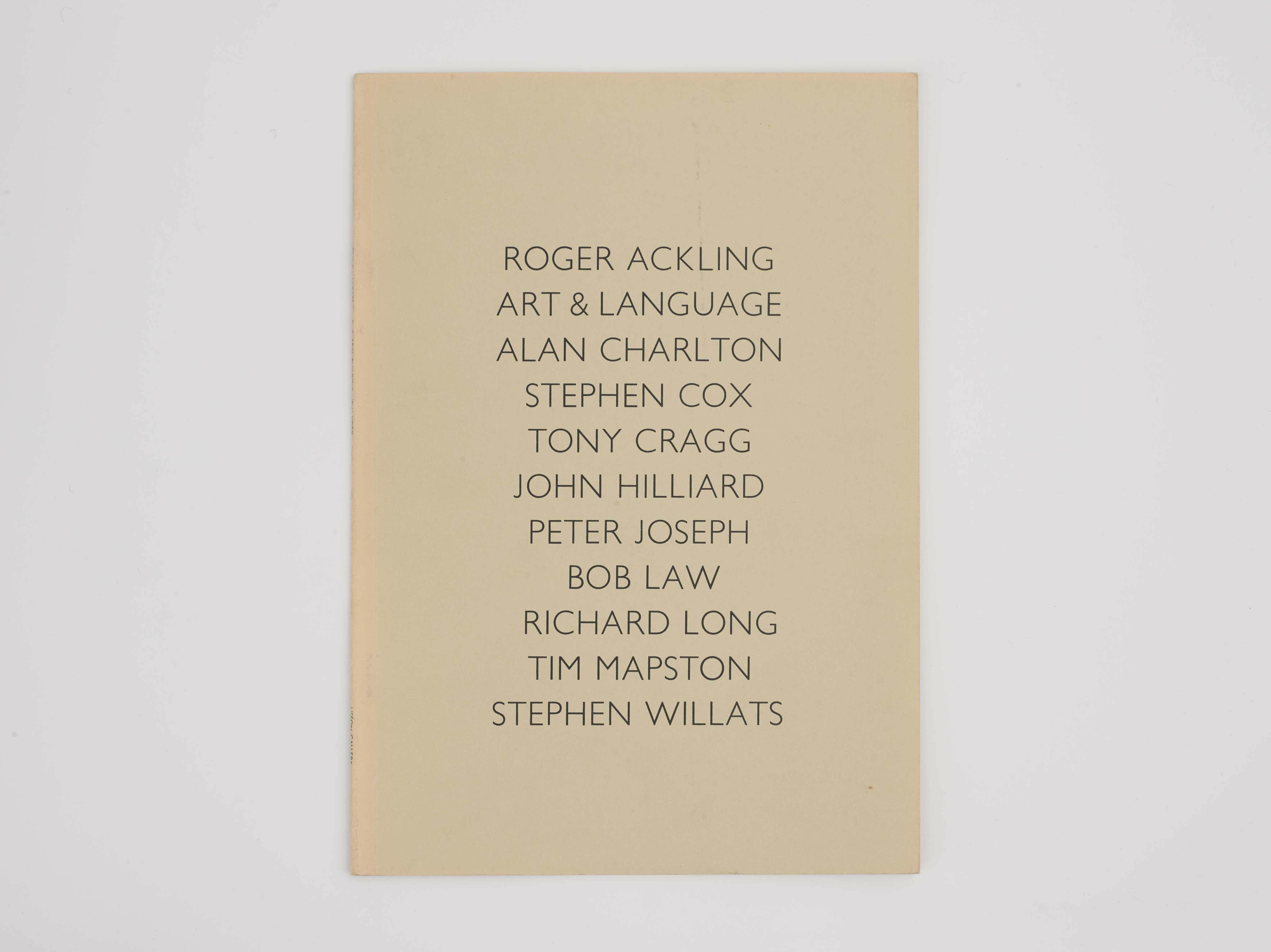 LONDON/NEW YORK: Fine Arts Building, 1977 cover