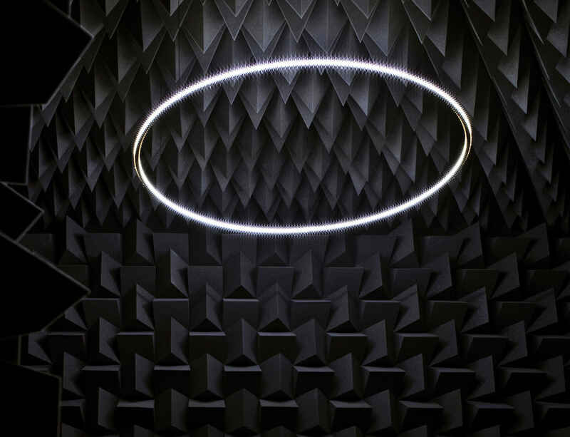 Haroon Mirza's 'The National Apavilion of Then and Now' now in the collection of the Museum of Modern Art, New York