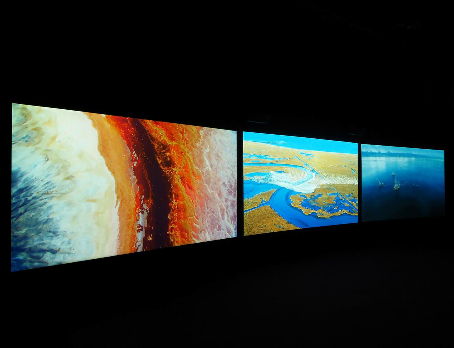 John Akomfrah's Vertigo Sea on view at Towner Gallery