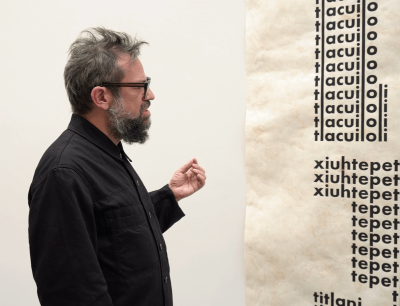 Pedro Reyes gives a narrated tour of his New York exhibition 'Tlali'