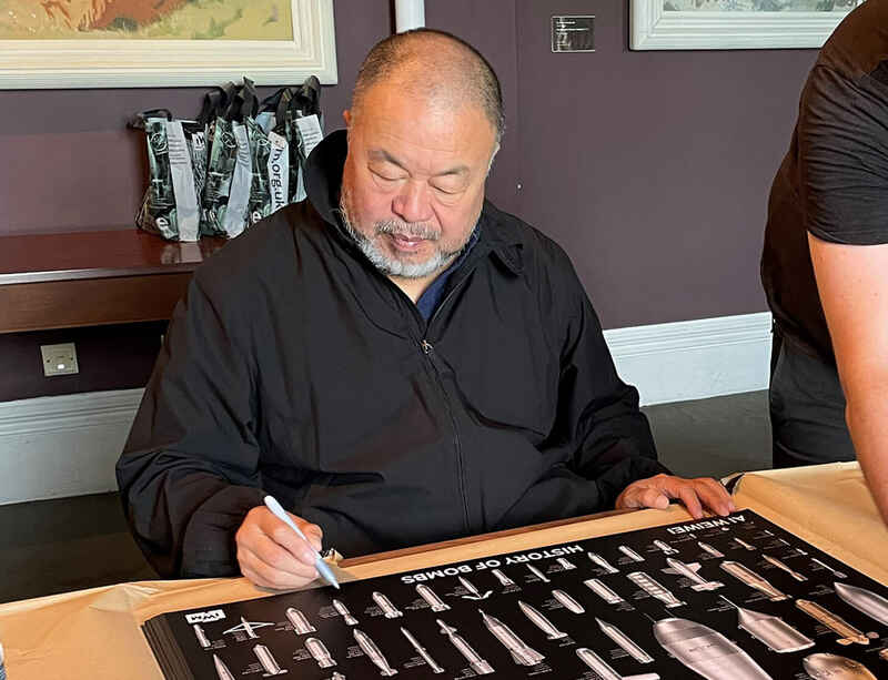 Signed posters by Ai Weiwei available to purchase from Imperial War Museum in London