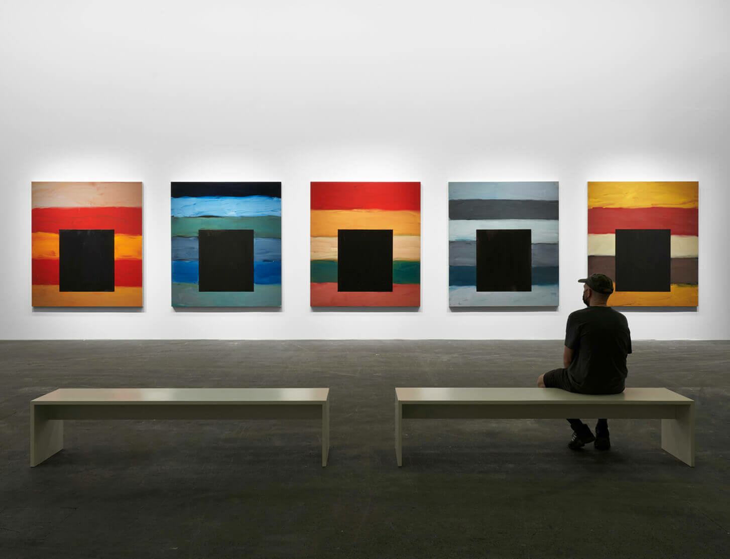 Sean Scully's 'Dark Windows' presented at Art Basel Unlimited