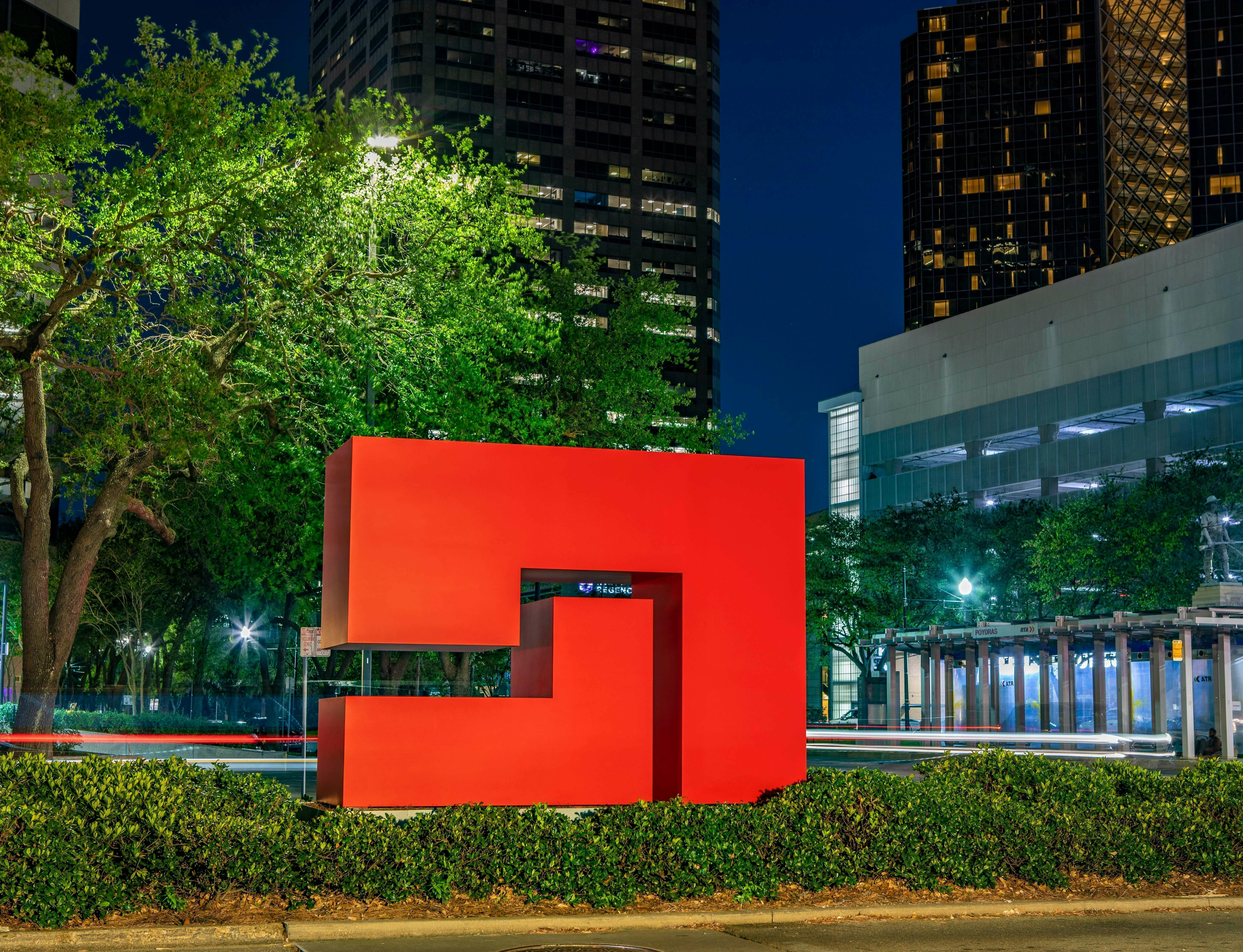 Carmen Herrera's 'Untitled Estructura (Red)' on view in New Orleans