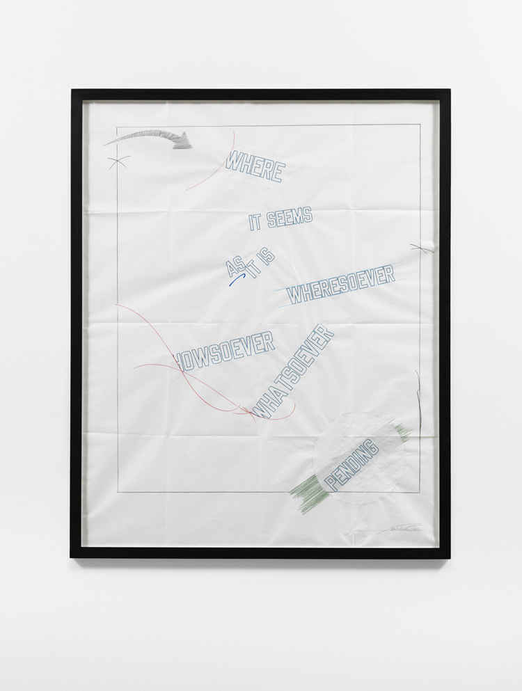 Lawrence Weiner: BE THAT AS IT MAY