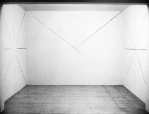 Sol LeWitt: Lines through, toward and to centre points