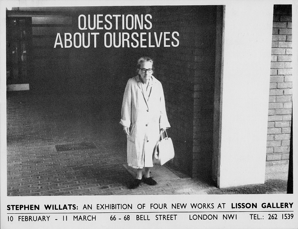 Stephen Willats: Questions About Ourselves
