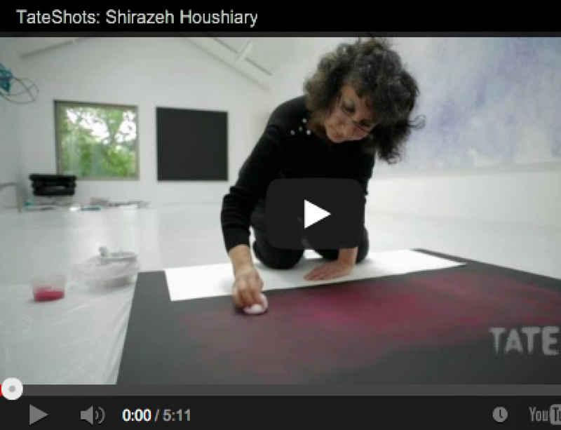 Shirazeh Houshiary: in the studio