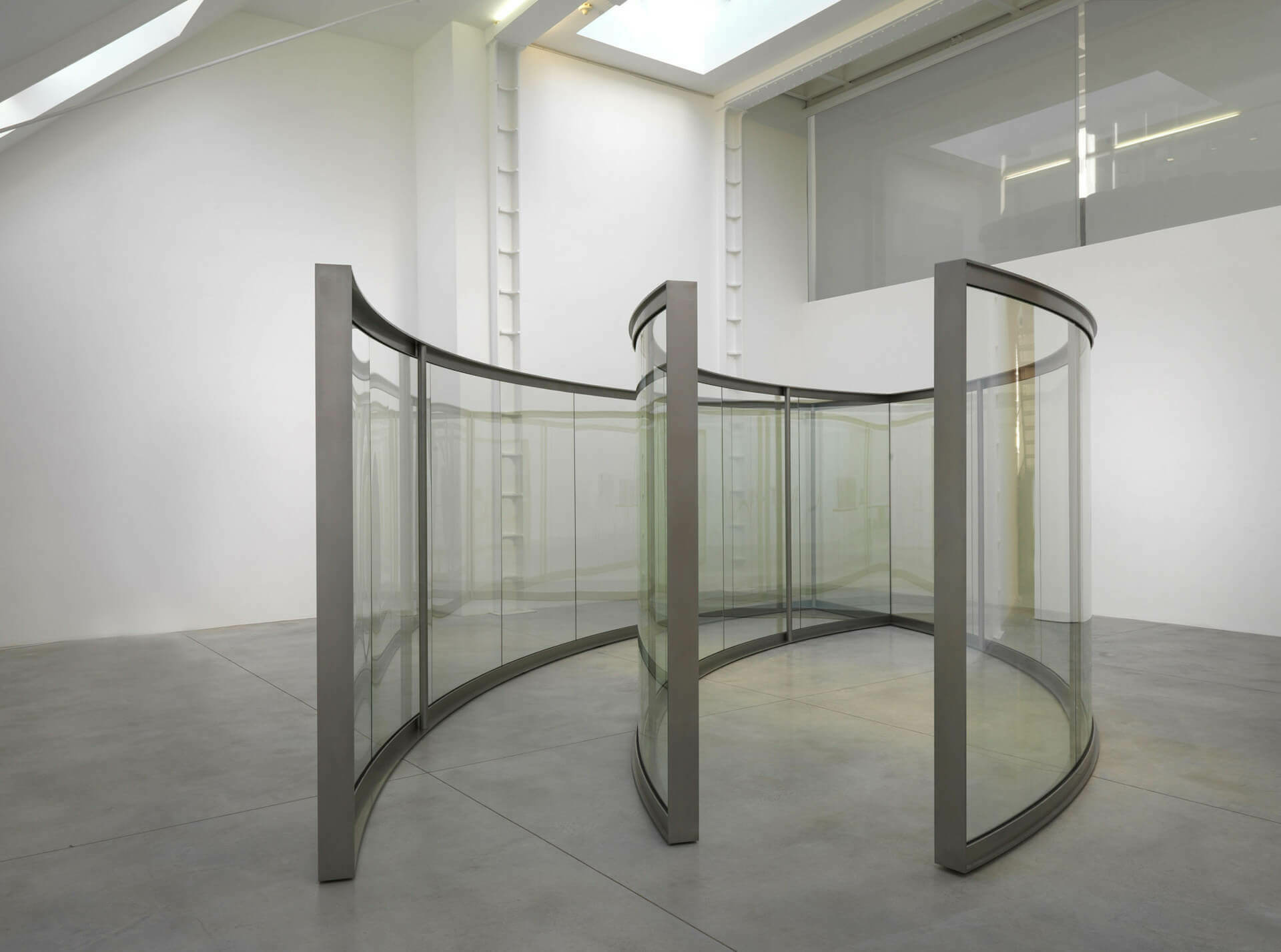 two 2 way mirror ellipses one open one closed dan graham artists lisson gallery. Black Bedroom Furniture Sets. Home Design Ideas