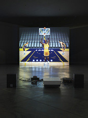 Thumbnail cory arcangel  self playing nintendo 64 nba courtside 2  2011  photo sacha marcic