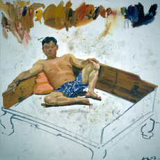 Thumbnail feature 2003 man on kang 200x200cm oil on canvas
